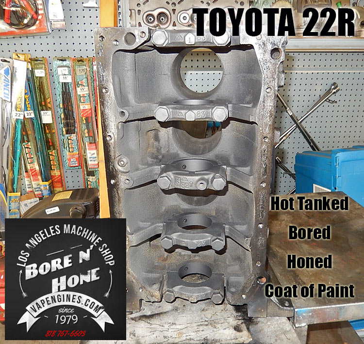 Bore and Honed Toyota 22R