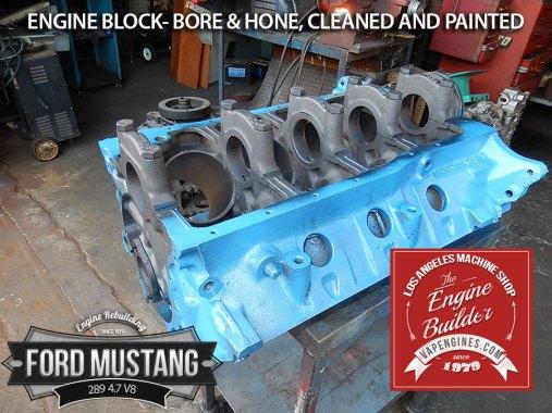 Freshly painted Ford Mustang 289 block