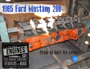 bore ford 200 cylinders