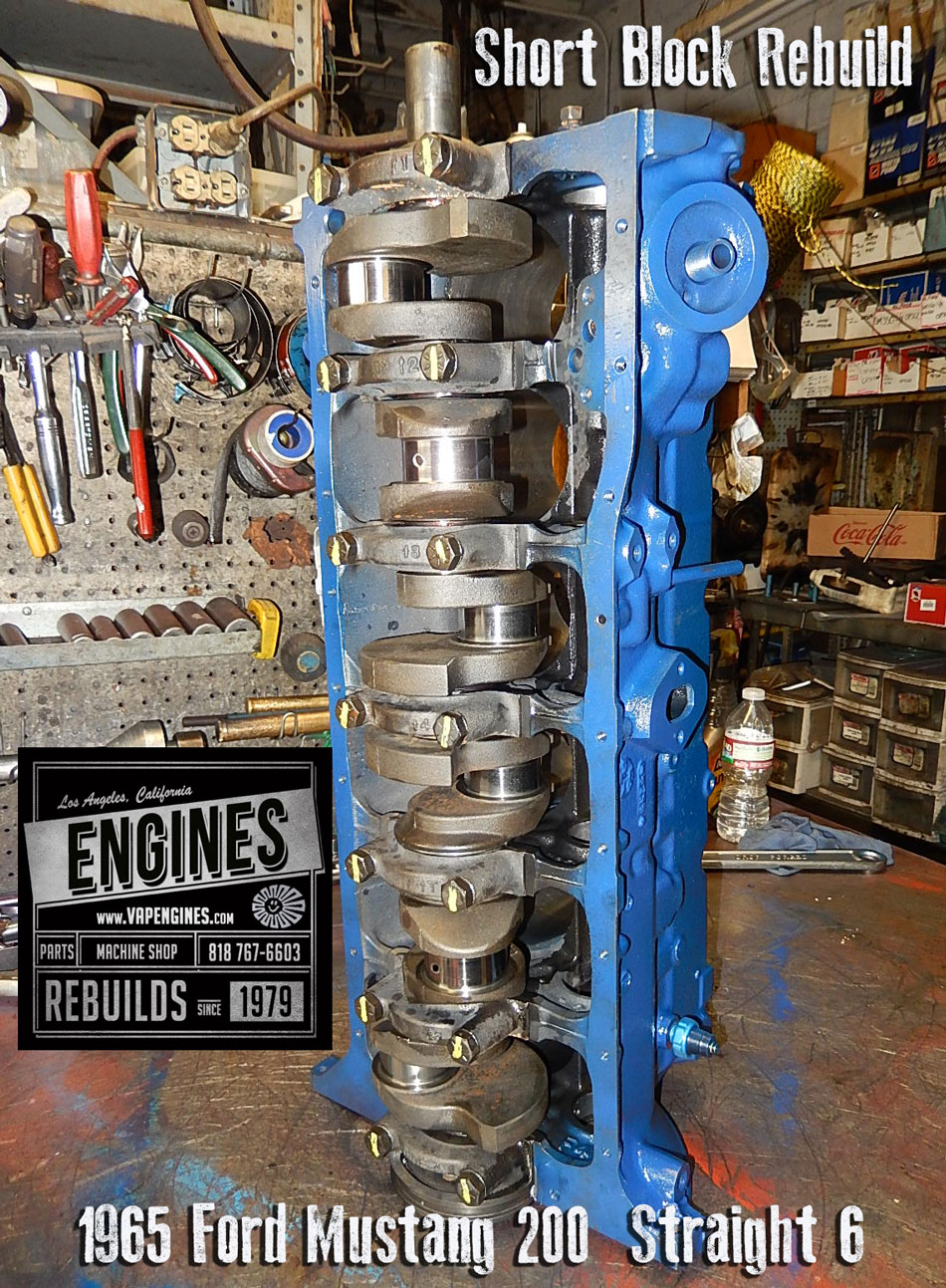 Auto Repair Estimates >> 65 Ford Mustang 200 I6 Remanufactured engine | Los Angeles ...