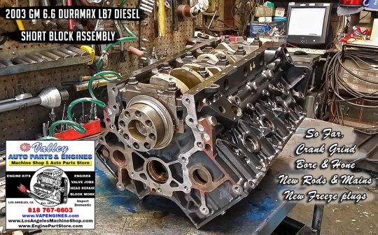 short block assemble GM 6.6 LB7 duramax
