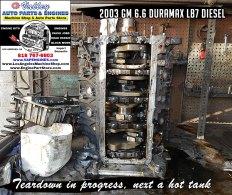 Teardown GM 6.6 lb7 engine