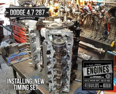 installing new timing set for Dodge 4.7