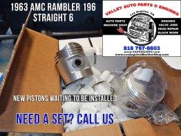Pistons for 63 AMC Rambler 196 3.2