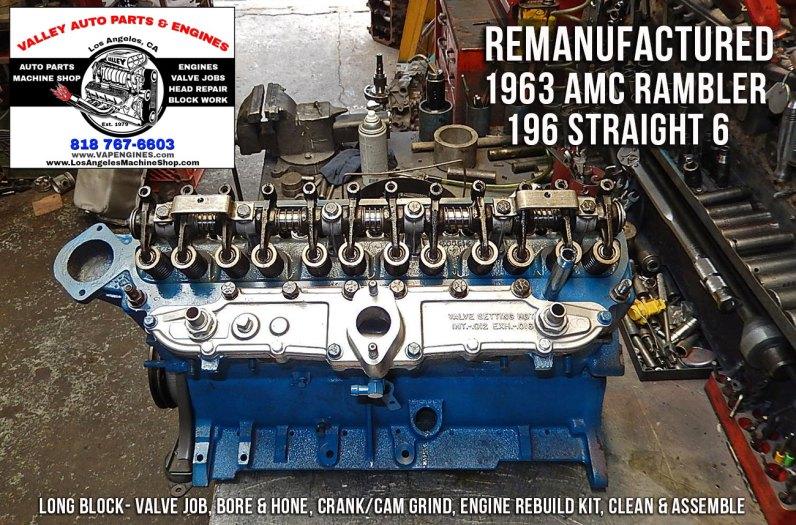 Rebuilt long block AMC RAmbler