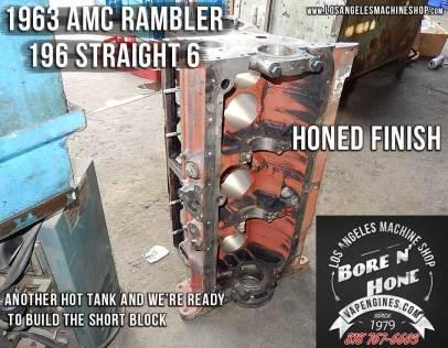 bore and honed Rambler 196 block