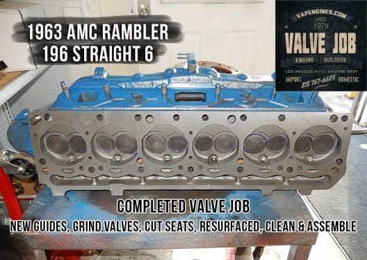 completed AMC Rambler valve job