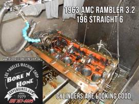 bore and honed 63 amc rambler 196 block