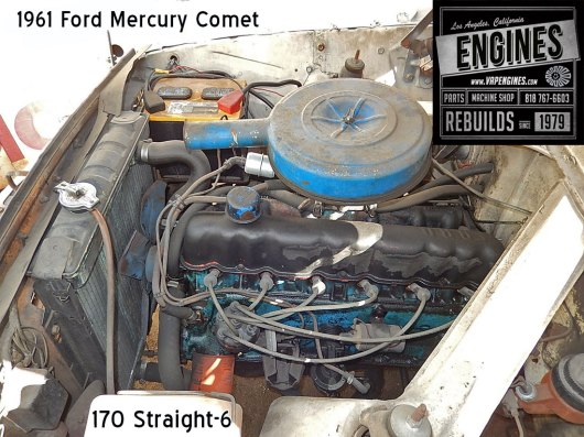61 Mercury Comet Straight 6 engine
