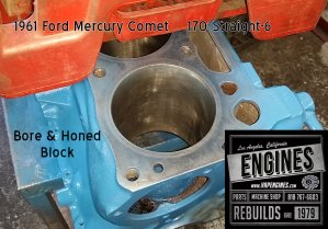 bore & honed cylinder on Mercury Comet