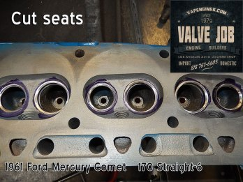 Close up of cut seats- Mercury Comet head