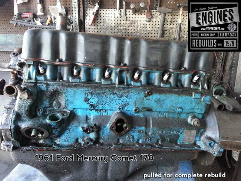 61 Mercury Comet 170 engine tear down