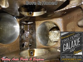 Bore and Honed cylinders Ford Galaxie 352 5.8