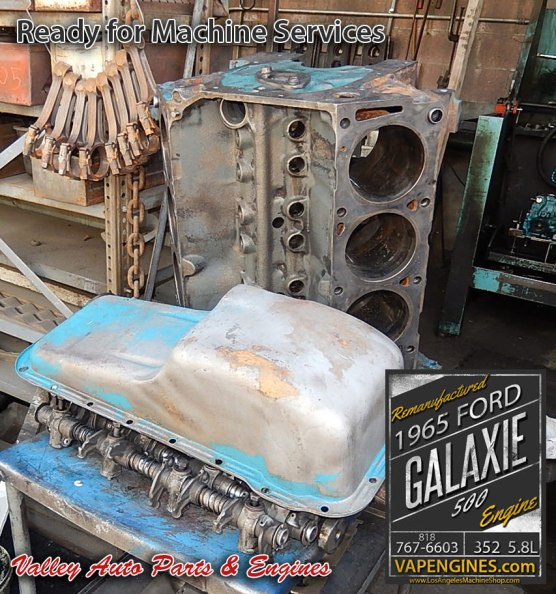 Hot tanked Ford Galaxie 500 5.8 352 engine parts