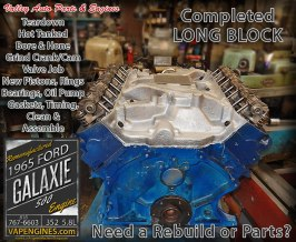 Complete Long Block rebuild Ford Galaxie 5.8 352