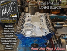 Engine remanufacture 65 Ford Galaxie 500 5.8