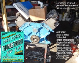 Complete engine rebuild Ford 390