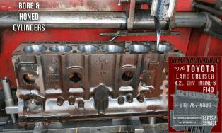 toyota 4.2 hone engine block
