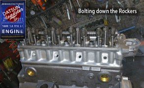 Datsun 1600 Cylinder head rebuilt