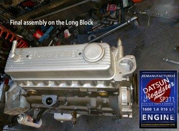 Rebuilt Datsun Sp311 R16 engine