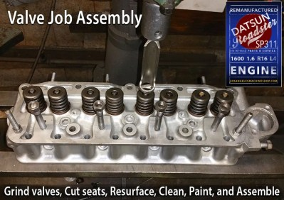 Valve Job Datsun Roadster 1600 1.6 head