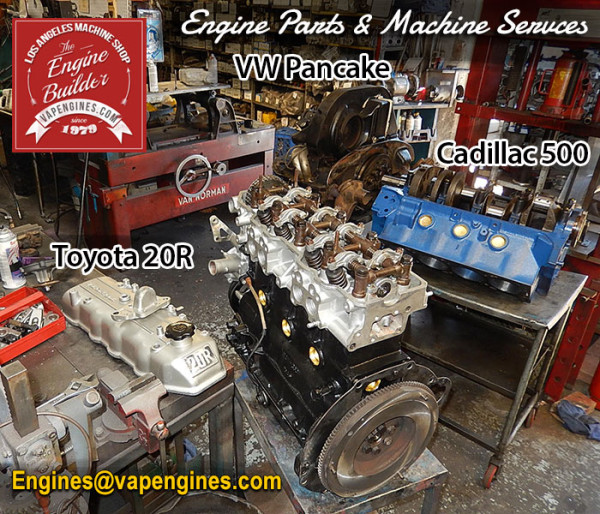 Toyota VW Cadillac engine rebuilds