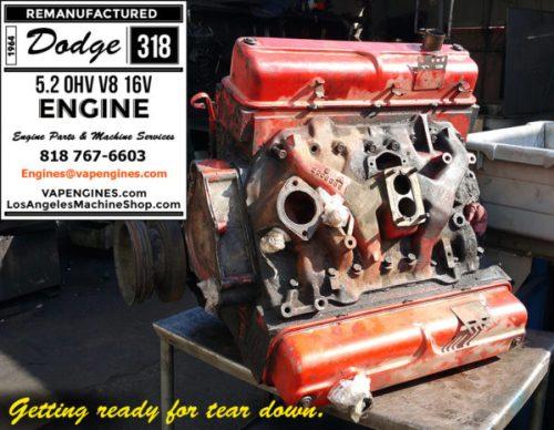 dodge 318 engine before rebuild