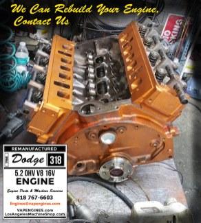 dodge 318 engine assembly