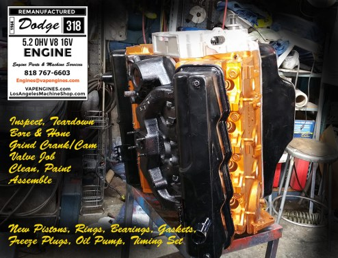 remanufactured dodge 318 engine