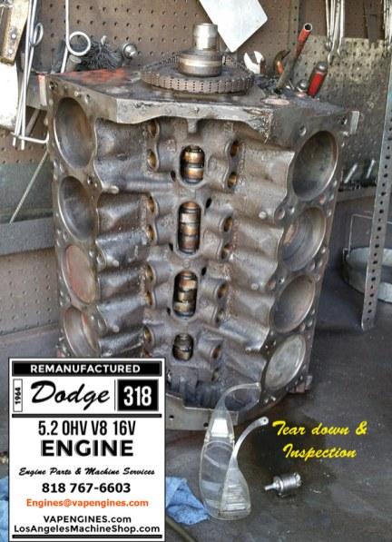 dodge 318 engine inspection