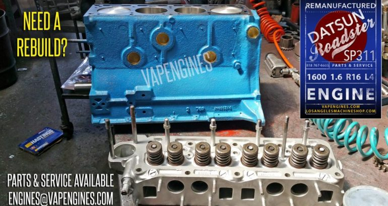 Remanufactured Datsun 1600 1.6 engine dring assembly