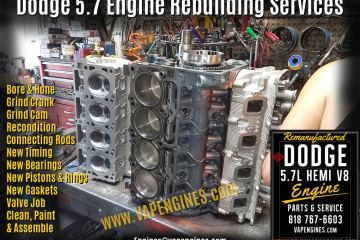 Dodge 5.7 Engine Rebuild Service