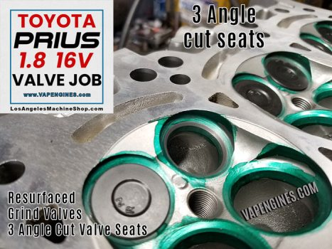 Cut seats on Toyota Prius cylinder head