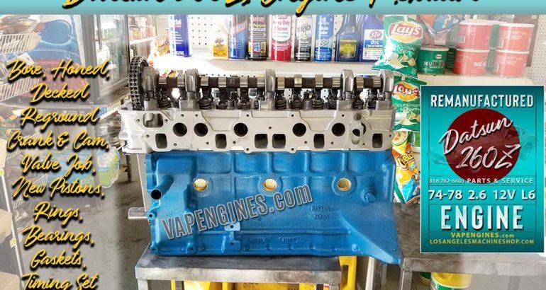 Nissan Datsun 260Z 2.6 12V Inline 6 engine rebuilding service.