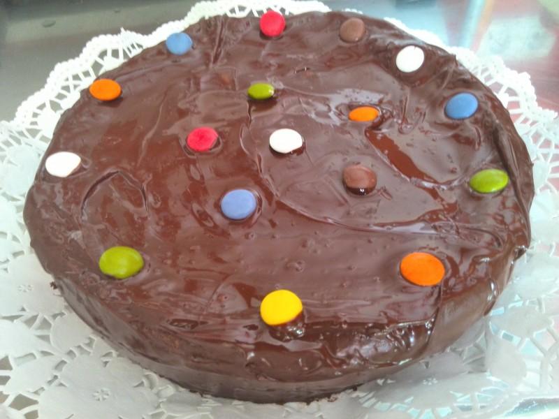 Tarta de chocolate infantil, para los cumpleaños