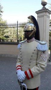 corazziere nero uniforme