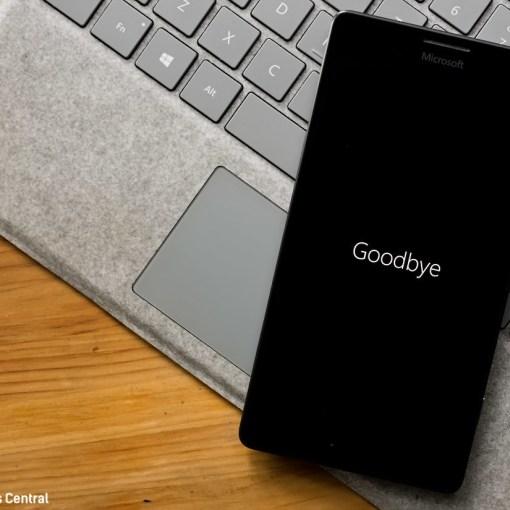Windows Phone Goodbye