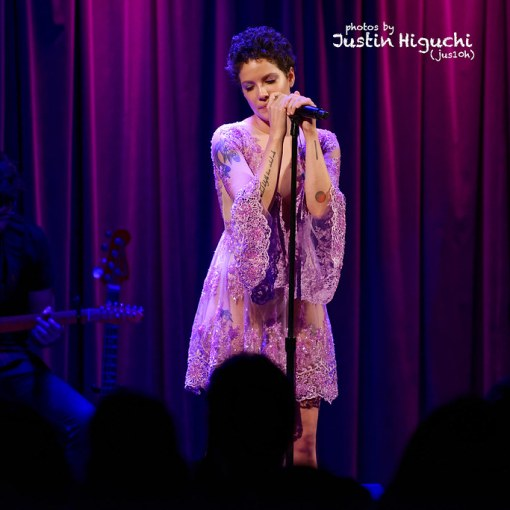 Halsey at the Grammy Museum in Los Angeles