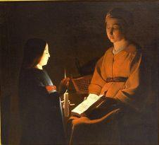 L'educazione della vergine, Georges de La Tour