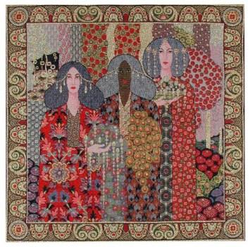 Vittorio Zecchin, Tre donne, disegno per decorazione vetraria (1919)