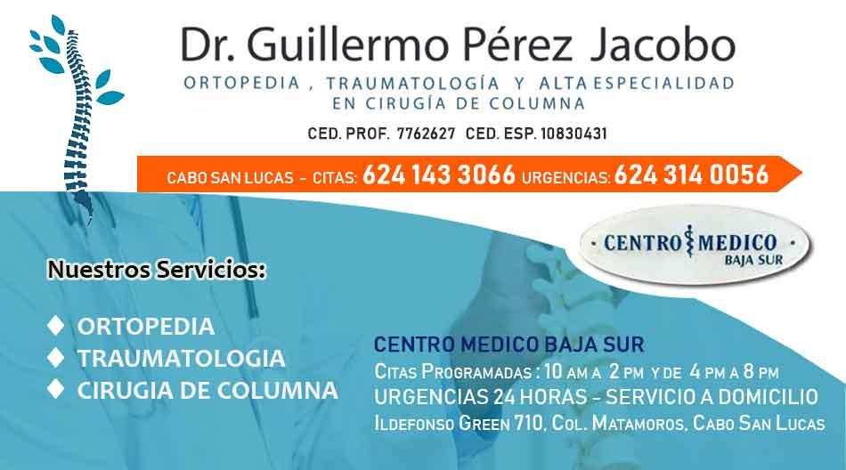 Dr Guillermo Perez Jacobo Ortopedia y Traumatologia