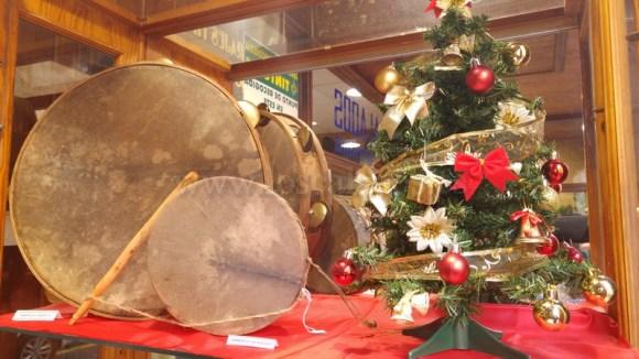 Pandero de Lanzarote y tambor pequeño de Valsequillo
