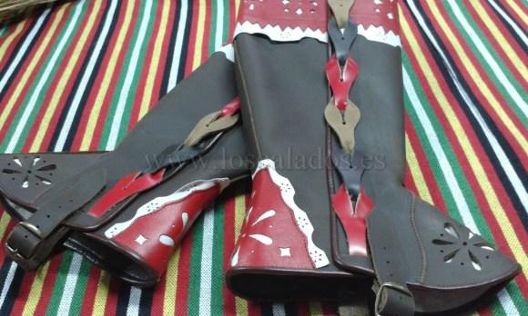 Polainas de cuero artesanas del Traje típico de La Orotava