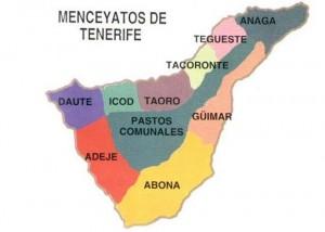División de Tenerife en Menceyatos tras la muerte de Tinerfe el Grande.