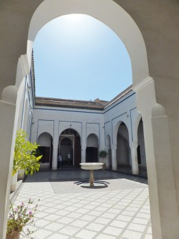A courtyard in the Palais.
