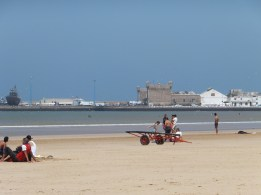 We went to Essaouira for a day trip to escape the heat.