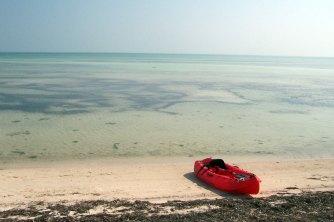 Playa en Long Key Cayos de la Florida