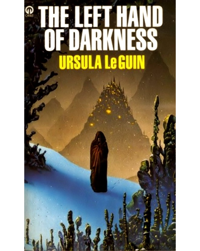 UK book cover for Ursula K. Le Guin's Sci-Fi novel The Left Hand of Darkness.