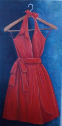 El vestido. 122x60cm. 50€.