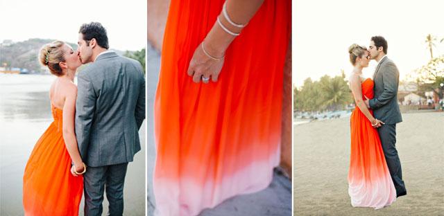 Vestido de novia naranja